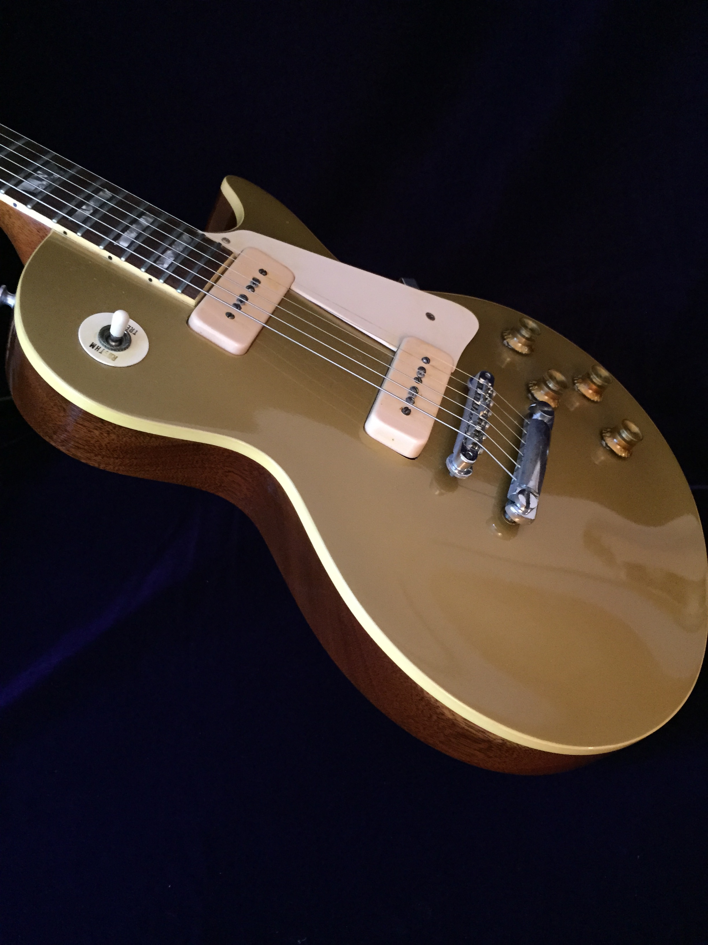 Early 1969 Vintage Gibson Goldtop 1 Piece Body P90 Pickups The Real Deal